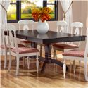 Canadel Gourmet - Custom Dining <b>Customizable</b> Rectangular Table - Item Number: TRE042621313MVQA1