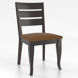 Canadel Gourmet Customizable Petite Ladder Back Side Chair