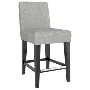 "Customizable Upholstered 26"" Fixed Stool"