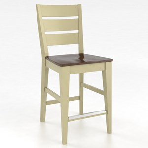 "Canadel Gourmet Customizable 24"" Fixed Stool"