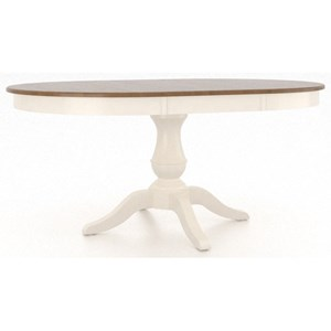 Customizable Round Pedestal Table with Leaf