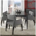 Canadel High Style - Custom Dining <b>Customizable</b> Table Set with Bench - Item Number: TAB4268+4xCHA5040+BEN5040