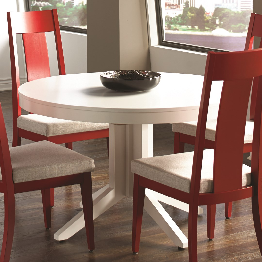 Custom Kitchen Tables: Canadel Custom Dining Customizable Contemporary Round