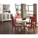 Canadel Custom Dining Customizable Contemporary Round Table