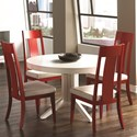 Canadel High Style 12 Customizable Round Table Set - Item Number: TRN4848+4xCHA5015