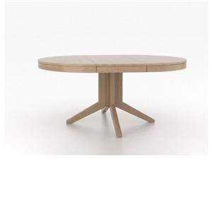 Canadel High Style - Custom Dining Customizable Round/Oval Table with Pedestal