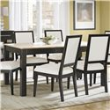 Canadel High Style - Custom Dining <b>Customizable</b> Rectangular Table - Item Number: TAB036480234MHF61