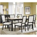 Canadel High Style - Custom Dining <b>Customizable</b> Rectangular Table Set - Item Number: TAB3648+6xCHA5009