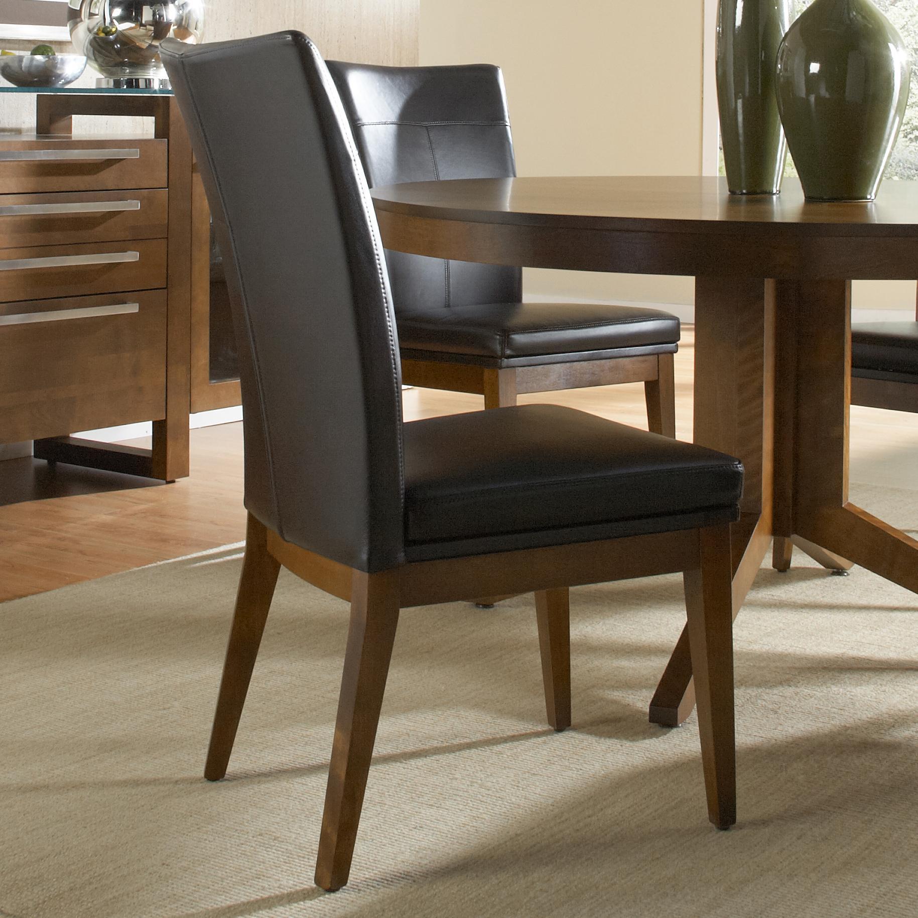 Custom Upholstered Side Chair: Canadel Custom Dining CNN05014ZC14MNA Customizable