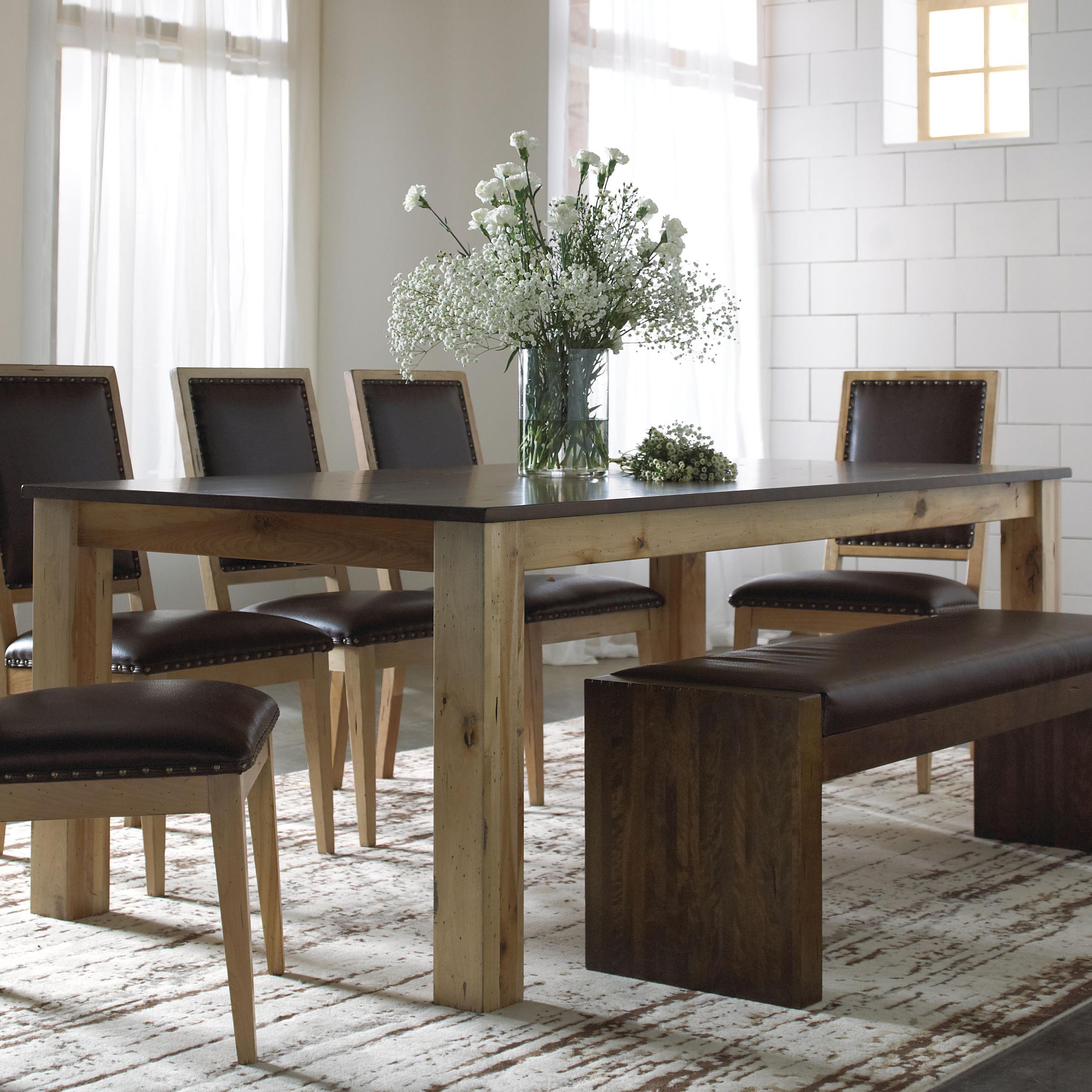 Canadel Loft - Custom Dining <b>Customizable</b> Rectangular Table - Item Number: TRE042801902RHMJF