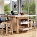 Canadel Loft - Custom Dining <b>Customizable</b> Island Table - Item Number: ISL0427202NARPQ+BAS