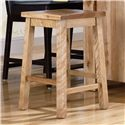 "Canadel Loft - Custom Dining <b>Customizable</b> 24"" Fixed Stool - Item Number: STO0505702NAR24F"