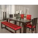Canadel Loft - Custom Dining Customizable Table Set - Item Number: TRE0428+BNN0507+2xCNN0505+2xCNN0514