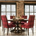 Canadel Loft - Custom Dining Customizable Table Set - Item Number: TRN0606+BAS0100+4xCNN0505