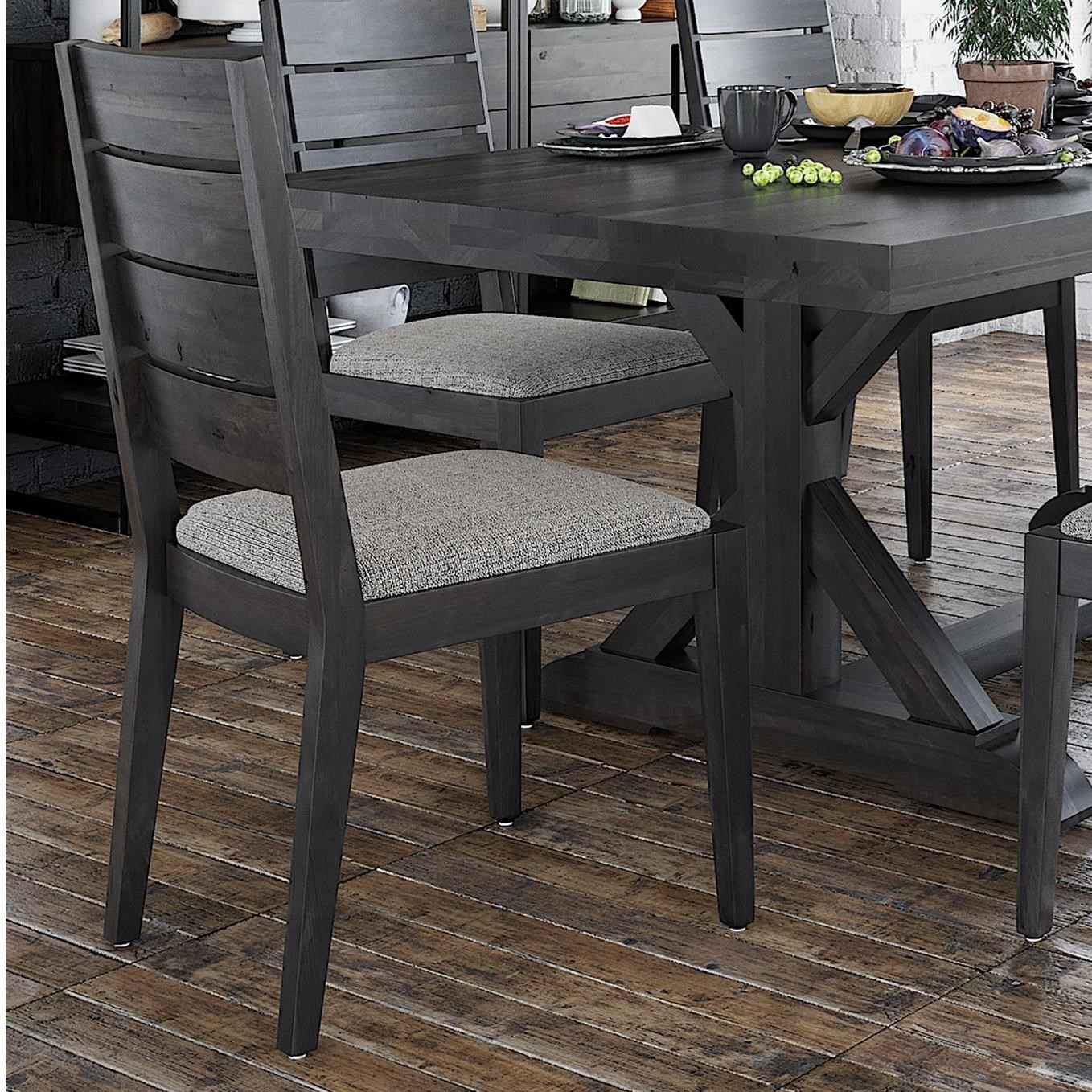 Loft - Custom Dining Customizable Side Chair w/ Upholstered Seat by Canadel at Dinette Depot