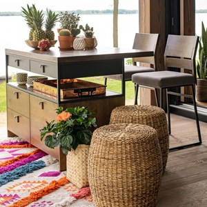 Customizable Island and Stools