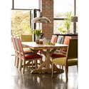 Canadel Loft - Custom Dining Customizable Table Set - Item Number: TRE+BAS+2xCNN+2xCNN+2xCNN+2xCNN