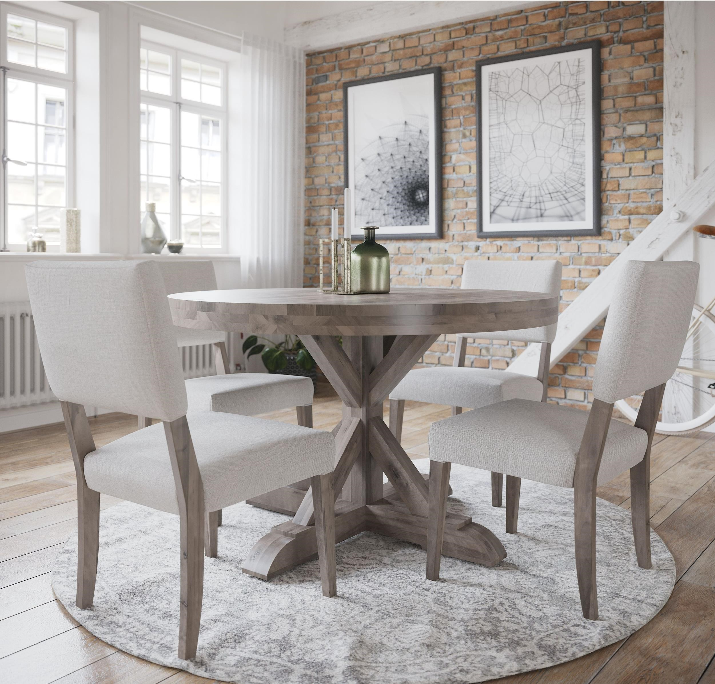Loft - Custom Dining Customizable Round Table Set by Canadel at Dinette Depot