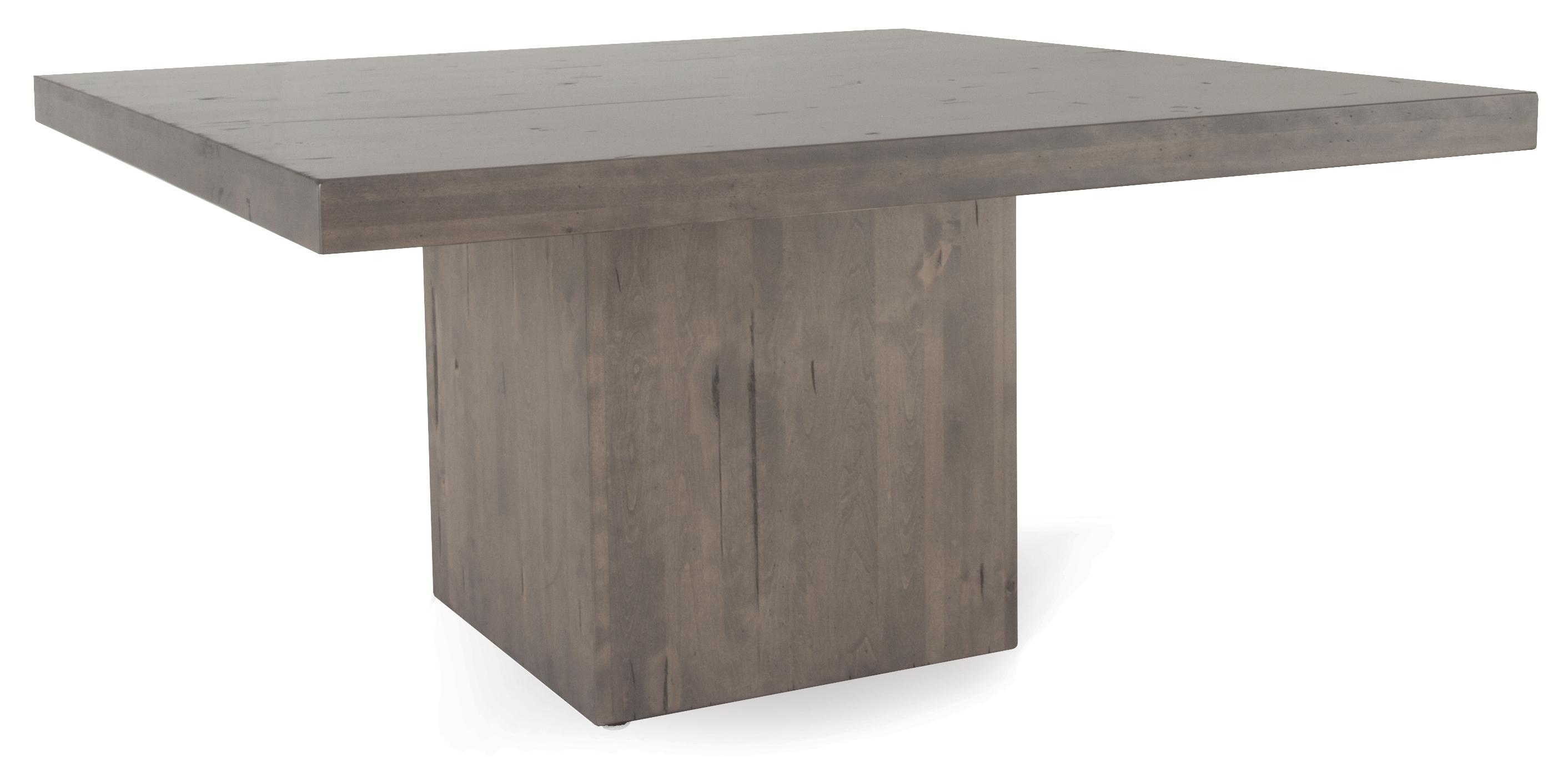 Canadel Loft Custom Dining Customizable Square Table With Block Pedestal Becker Furniture Kitchen Tables