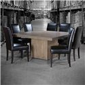 Canadel Loft - Custom Dining Customizable Square Table with Block Pedestal