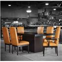 Canadel Loft - Custom Dining <b>Customizable</b> Rectangular Table Set - Item Number: TRE4272+BAS+2xCHA5045-WA+4xCHA5045
