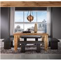 Canadel Loft - Custom Dining <b>Customizable</b> Square Table Set - Item Number: TSQ6060+4xBEN5054