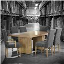 Canadel Loft - Custom Dining <b>Customizable</b> Rectangular Table Set - Item Number: TRE4272+BAS+2xCHA5050-WA+4xCHA5050