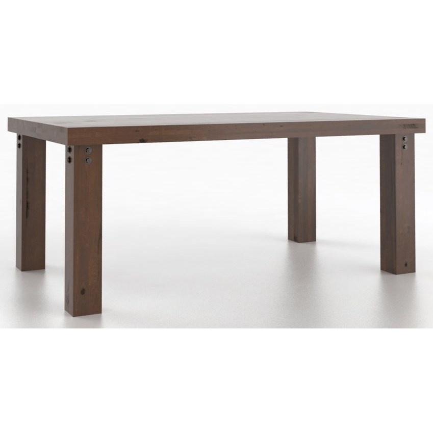 Loft Customizable Rectangular Dining Table by Canadel at Dinette Depot