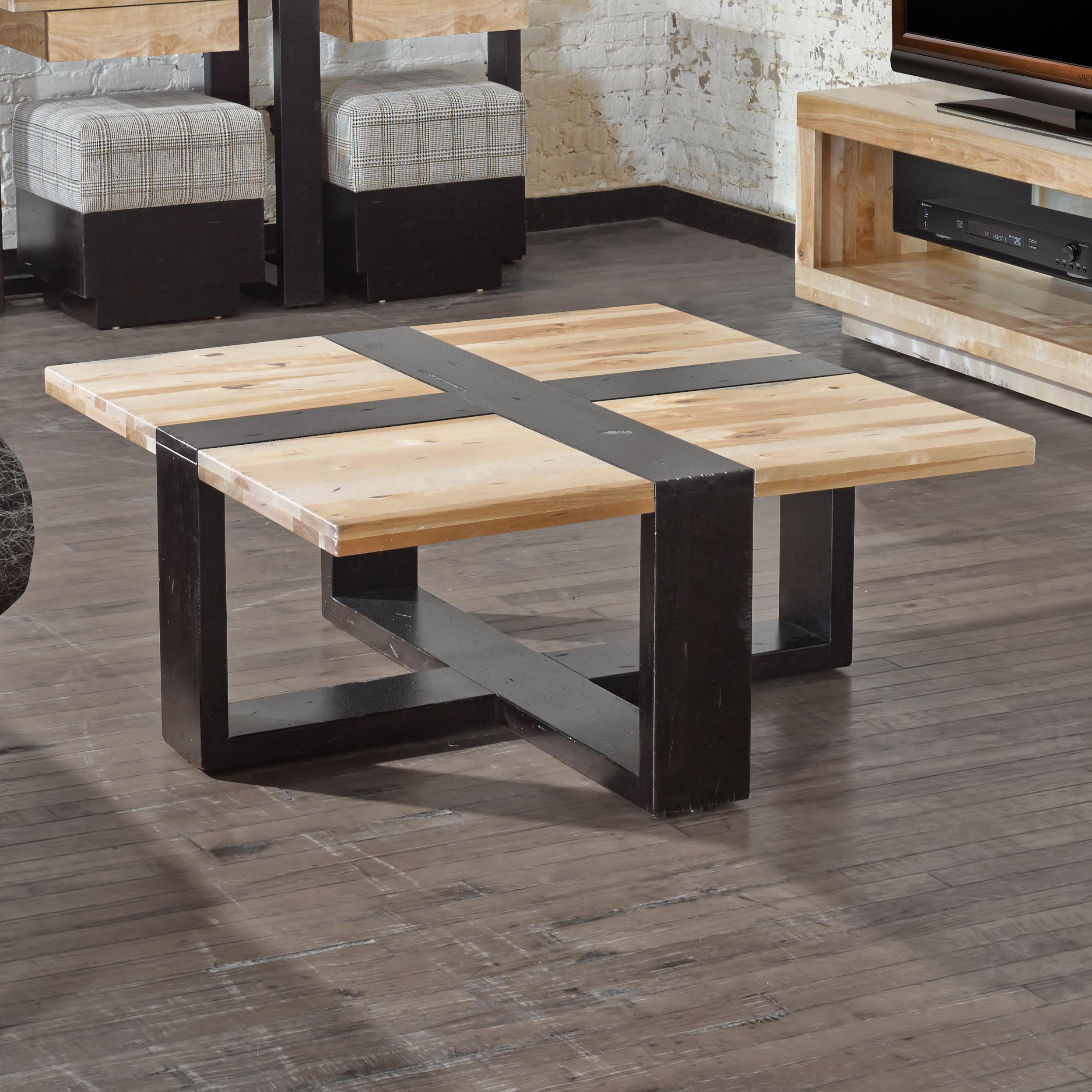 Loft - Living <b>Customizable</b> Square Coffee Table by Canadel at Dinette Depot
