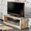 Canadel Loft - Living Customizable Media Unit with Metallic Suspended Shelf