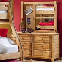 Canyon Arbor Creek Landscape Corkboard Mirror - Shown here with the 10A-206 Six Drawer Dresser