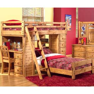 Canyon Arbor Creek Bunk Bed With Desk Storage Combo