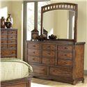 Canyon Craftman Eleven-Drawer Dresser with Mirror