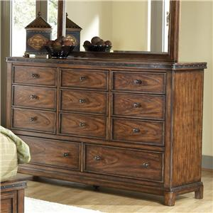Canyon Craftman Eleven Drawer Dresser with Wood Veneer