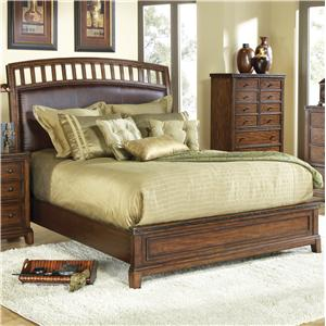 Canyon Craftman King Panel Bed with Upholstered Headboard