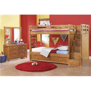 Morris Home Furnishings Cisco Cisco Twin Bunkbed *Trundle Sold Separately