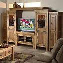 Canyon Rustic Six Piece Entertainment Wall Unit