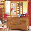Morris Home Furnishings Cisco Dresser w/ 6 Drawers - Shown with Landscape Mirror