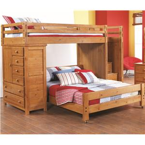 Canyon Creekside Twin Full Loft Bed W Chest