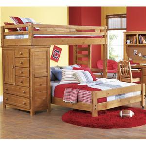 Canyon Creekside Twin Full Loft Bed W Chest Bigfurniturewebsite