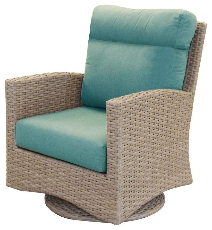 Grand Stafford Swivel Glider by Cape May Wicker at Johnny Janosik