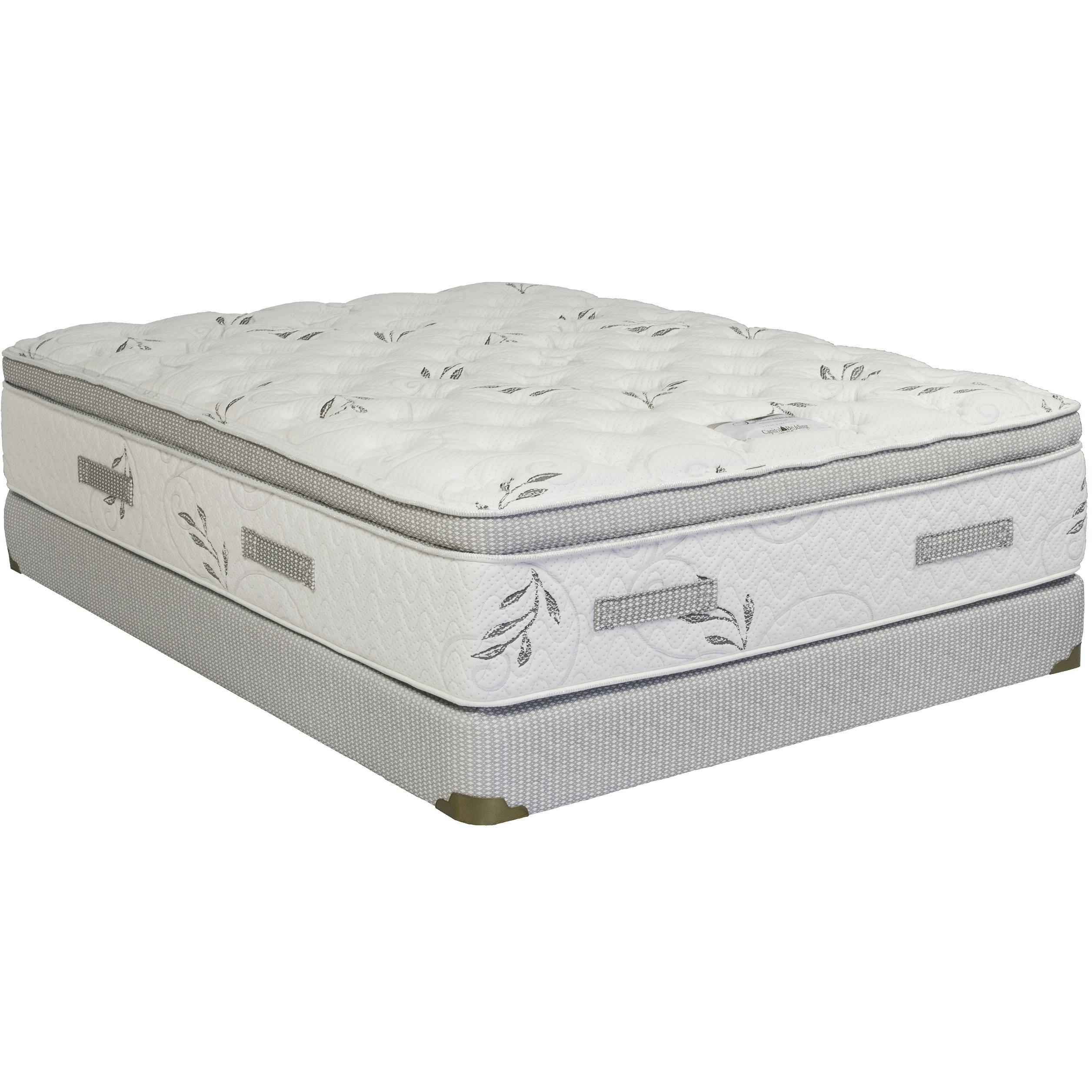 Capitol Bedding Opulence Full Pillow Top Low Profile Set - Item Number: PillowTop-F+HMI-TR-FX-38-F