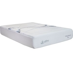 Capitol Bedding Evening Dreams Queen Firm Gel Memory Foam Mattress, Adj Set