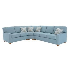 Capris Furniture 145 3 Pc Sectional Sofa w/ Sleeper