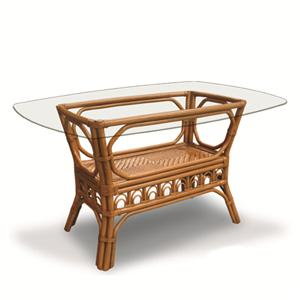 Capris Furniture 321 Collection Wicker Rattan Dining Table