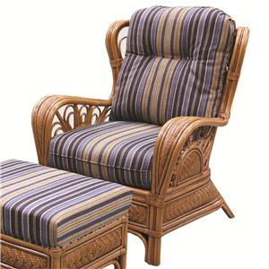 Capris Furniture 321 Collection Exposed Rattan Chair