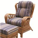 Capris Furniture 321 Collection Exposed Rattan Chair - Item Number: OC321
