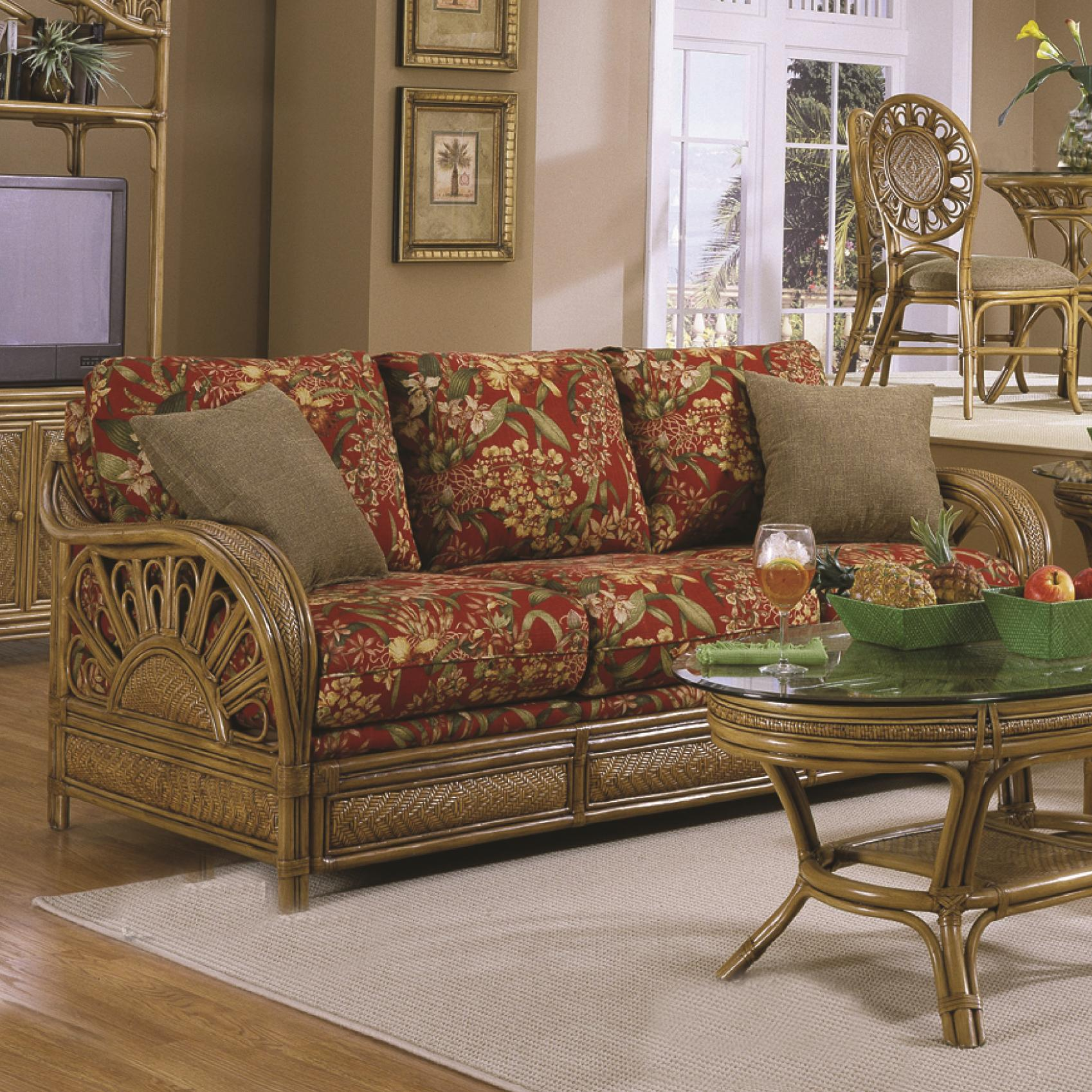 321 Collection Wicker Sofa by Capris Furniture at Esprit Decor Home Furnishings
