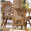 Capris Furniture 321 Collection Wicker Rattan Dining Side Chair - Item Number: SC321