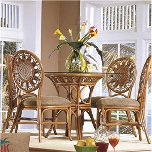 Capris Furniture 321 Collection Glass Top Table With Four Side Chairs
